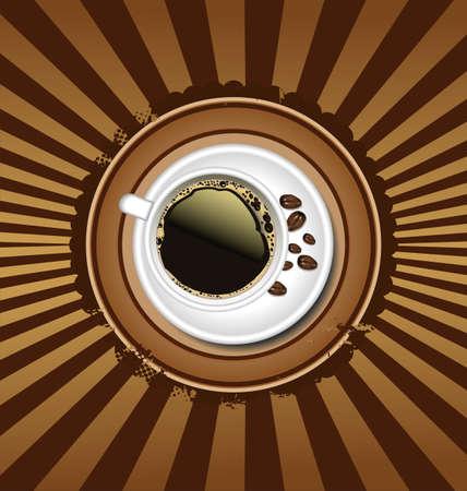 sip: Coffee retro background