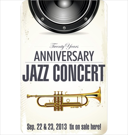 jazz music: Jazz Concert poster Illustration