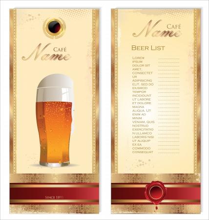 price list: Beer cafe design