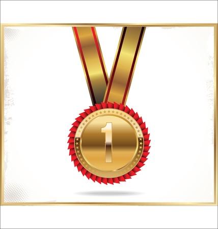 medal ribbon: Gold medal