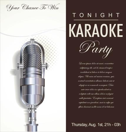 concert poster: Karaoke party background  Illustration