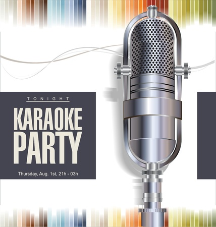 vocals: Karaoke party background Illustration