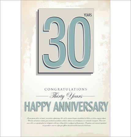remembered: 30 years anniversary retro background