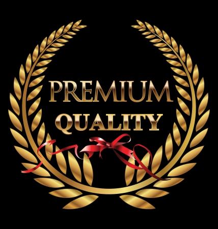 golden laurel wreath: Premium quality golden laurel wreath