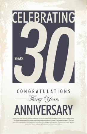 aniversario: 30 a�os aniversario fondo retro Vectores