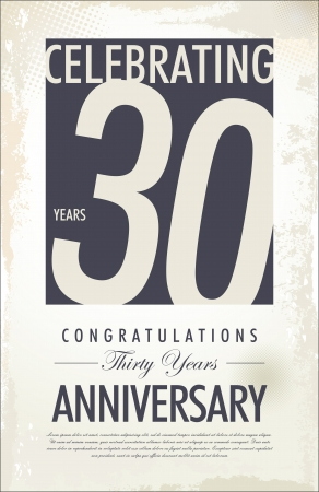 30 jaar jubileum retro achtergrond