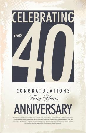aniversario: 40 a�os aniversario fondo retro