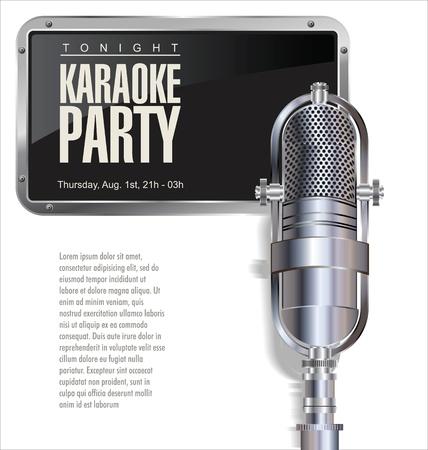 festival poster: Karaoke party background  Illustration