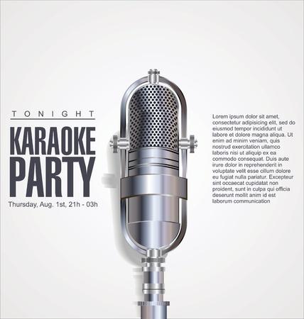 music festival: Karaoke party background  Illustration