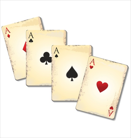 Old playing cards Stock Vector - 21944660