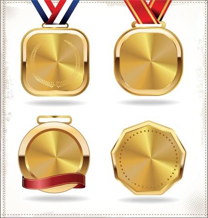 gold medal set Illustration