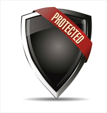 Protected shield Stock Vector - 22069233
