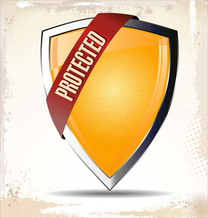 Protected shield Stock Vector - 22069235