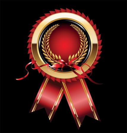 certified: Blank award ribbon rosette