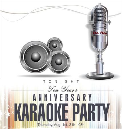 microfono radio: Karaoke Fondo del partido