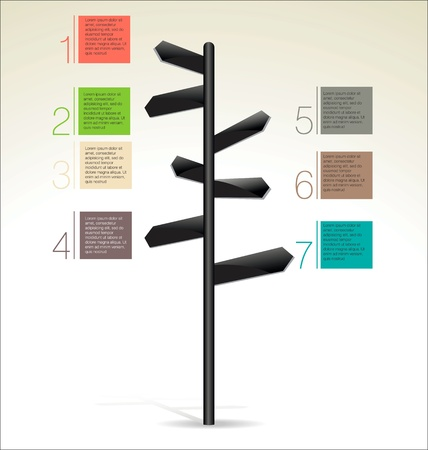 guidepost: Road sign Illustration
