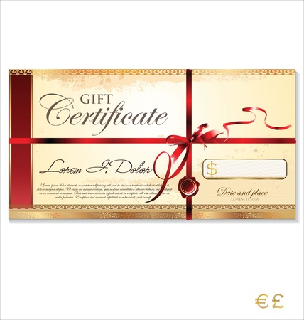 birthday present: Gift certificate Illustration
