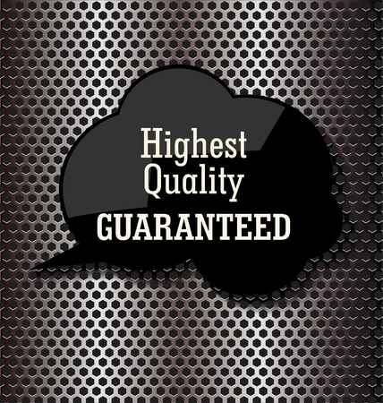 Premium quality bubble speech on metal background Vector