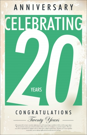 celebração: 20 anos Anivers