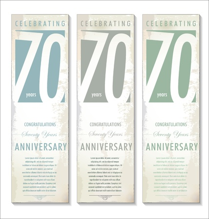 70 years anniversary retro background Vector