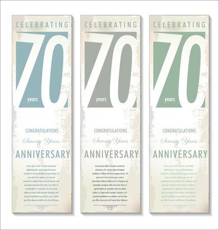 70 years: 70 years anniversary retro background Illustration