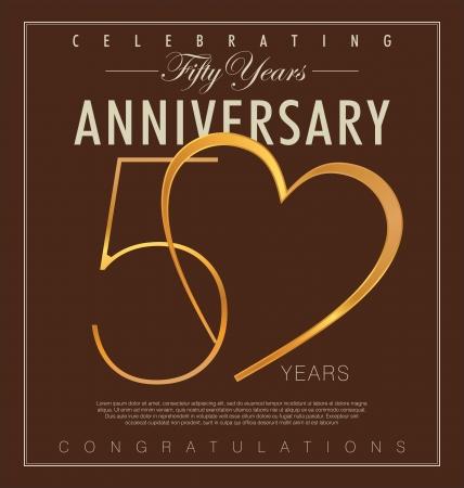 certificate icon: 50 years Anniversary retro background