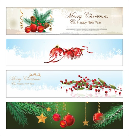 happy new year banner: Merry Christmas and happy New year banner