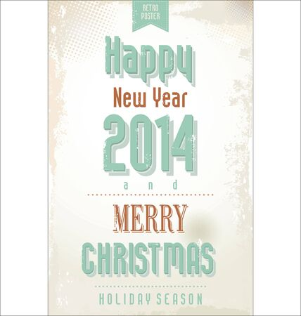 Vintage style design for New Year  Vector