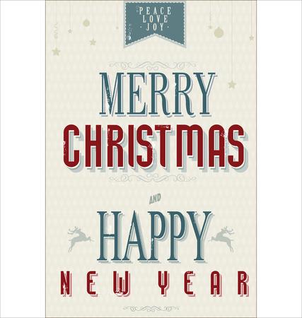 Vintage Christmas Hintergrund Vektorgrafik