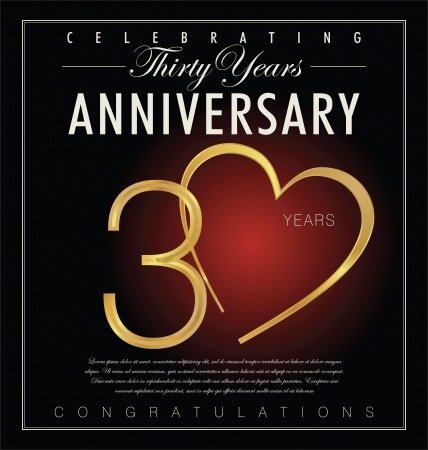 anniversaries: 30 years anniversary retro background