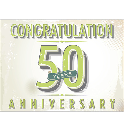 50 years: 50 years anniversary retro background