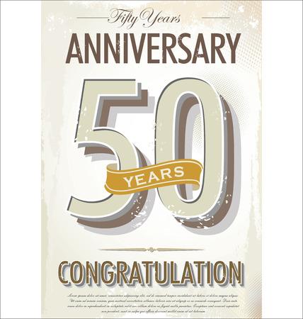 celebrations: 50 years Anniversary retro background