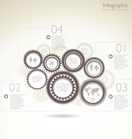 visualize: Design moderno sfondo con un marrone ingranaggi