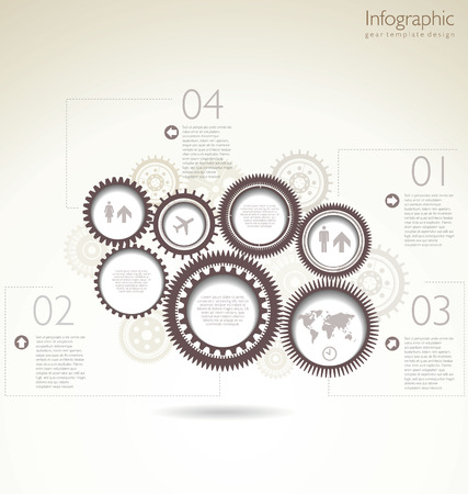visualization: Modern design background with a brown gears