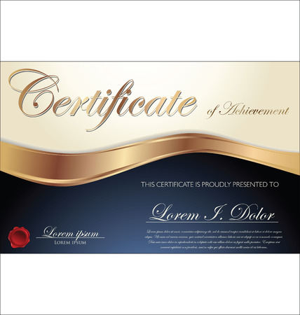certificate design: Certificate or diploma template, vector illustration Illustration
