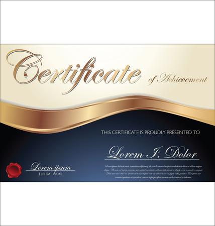 Zertifikat oder Diplom-Vorlage, Vektor-Illustration Standard-Bild - 22545139