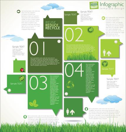 educazione ambientale: moderno modello di progettazione ecologia Vettoriali