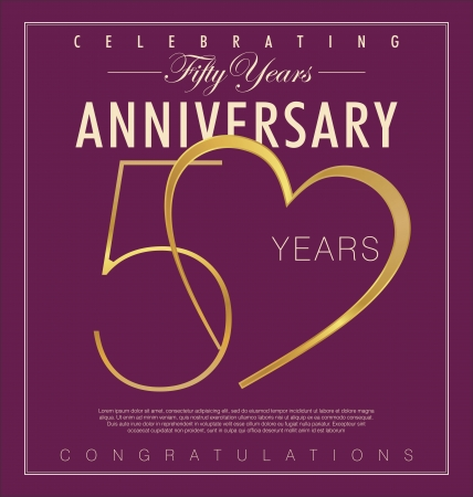 anniversary vintage: 50 years Anniversary retro background