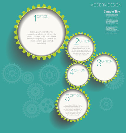 Modern gear design template  Vector