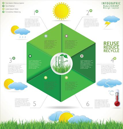 Modern ecology design template Stock Vector - 22620038