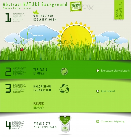 recycle tree: Modern nature design layout