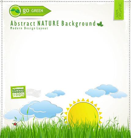 Modern ecology design layout Stock Vector - 22700151