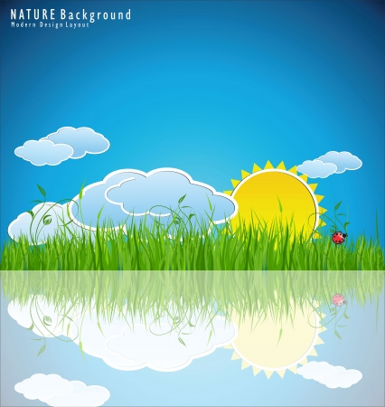Modern nature design layout  Stock Vector - 22688987