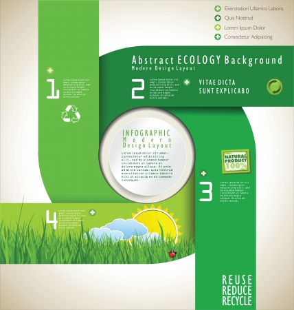 Modern infographic nature design template Vector