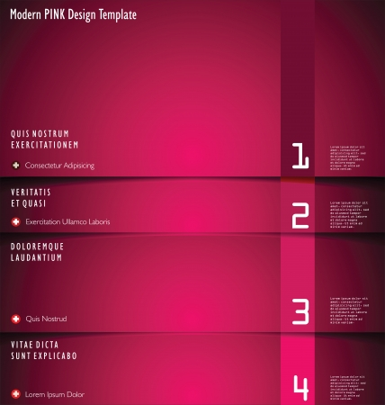 Modern red Design Layout Vector