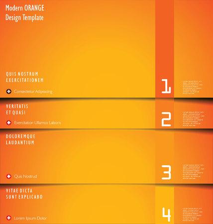 separator: Modern orange Design Layout