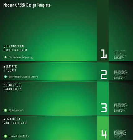 Modern green Design Layout Vector