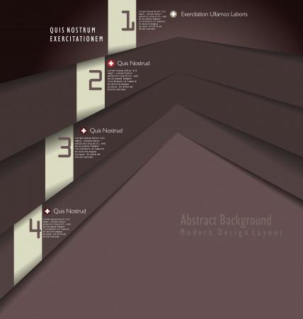 Modern brown Design template Vector