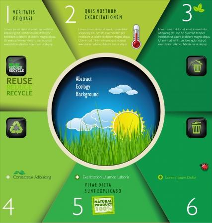 green sign: Modern ecology design layout