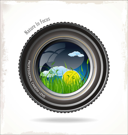 Nature in focus Vector